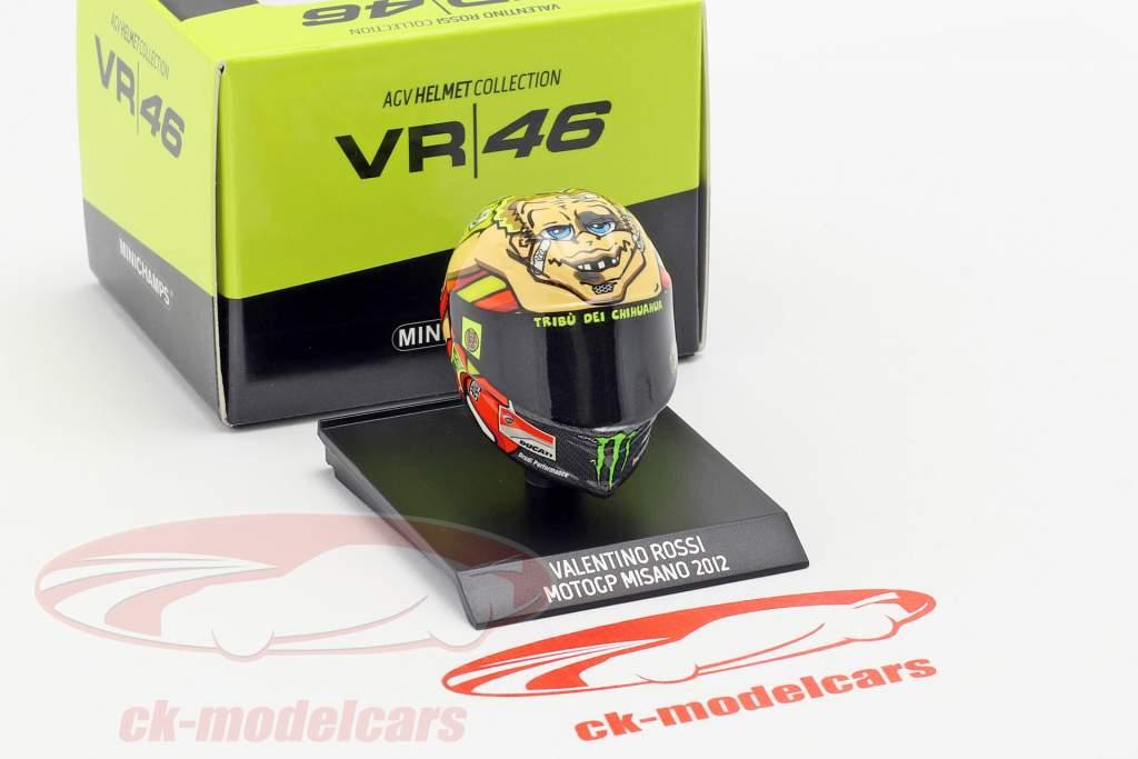 Valentino Rossi MotoGP Misano 2012 AGV helmet 1:10 Minichamps