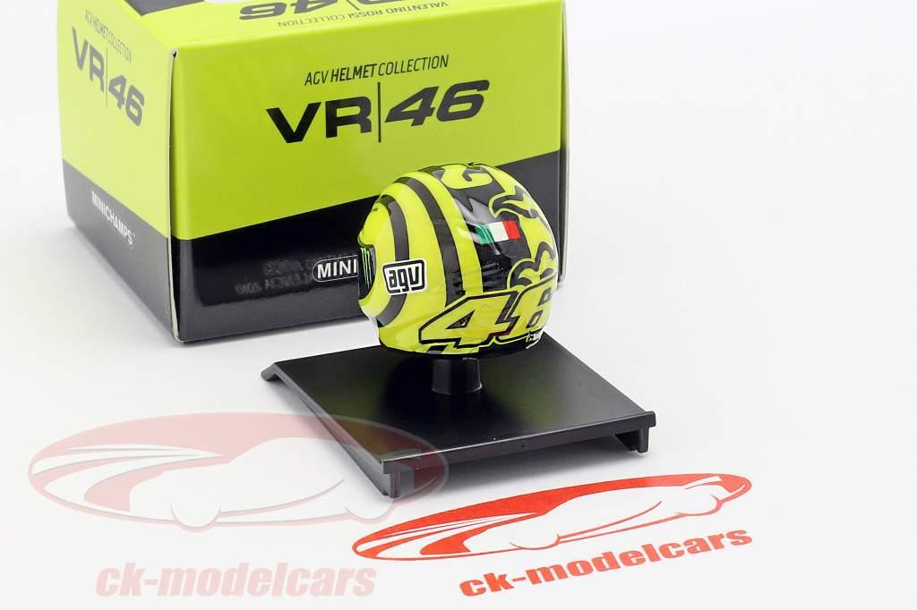 Valentino Rossi Ducati prøve Valencia MotoGP 2010 AGV hjelm 1:10 Minichamps