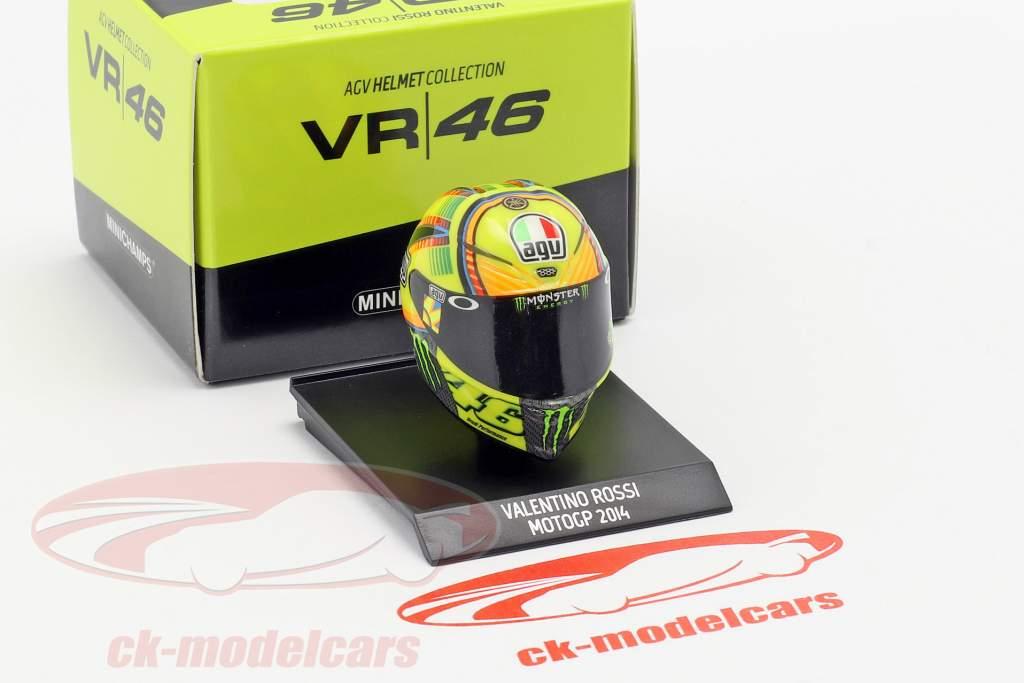 Valentino Rossi MotoGP 2014 AGV helm 1:10 Minichamps