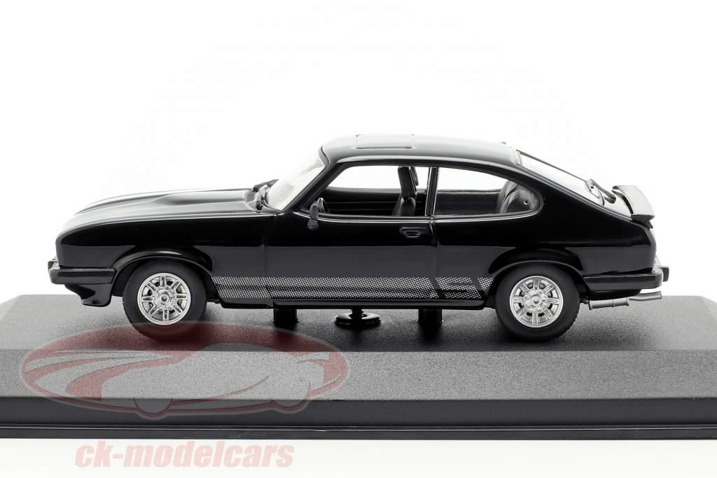 Ford Capri año de construcción 1982 negro 1:43 Minichamps
