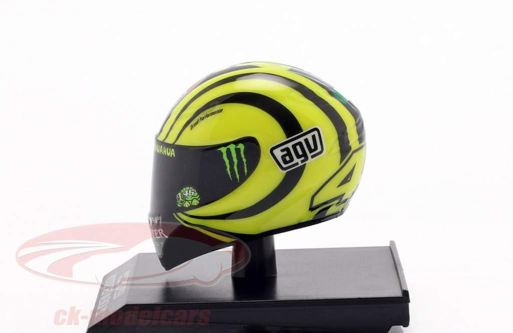 Valentino Rossi Ducati teste Valencia MotoGP 2010 AGV capacete 1:10 Minichamps