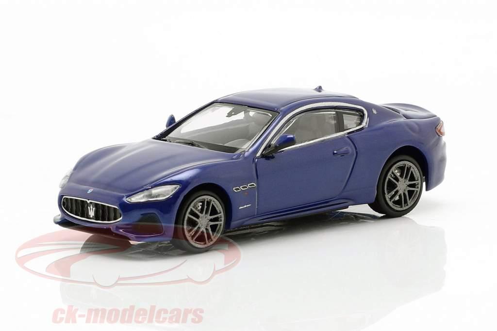 Maserati Granturismo Baujahr 2018 blau metallic 1:87 Minichamps