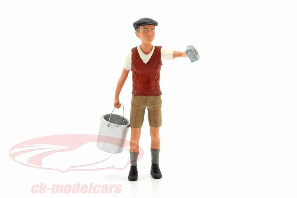Dreng med gips klud og spand figur Figur 1:18 Fabrik