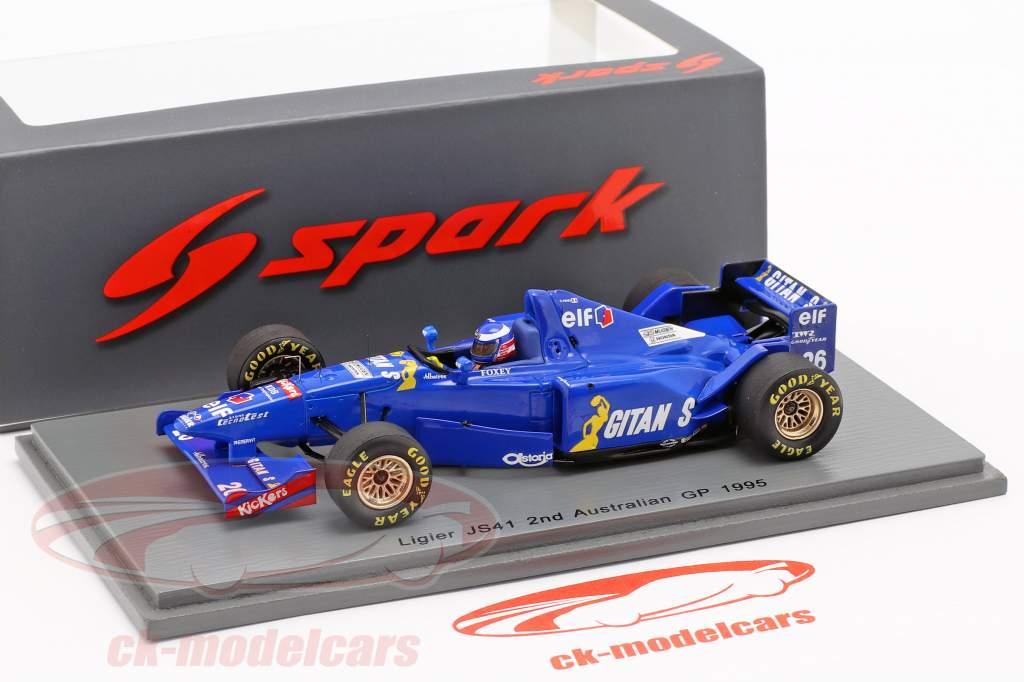 Olivier Panis Ligier JS41 #26 2º australiano GP fórmula 1 1995 1:43 Spark