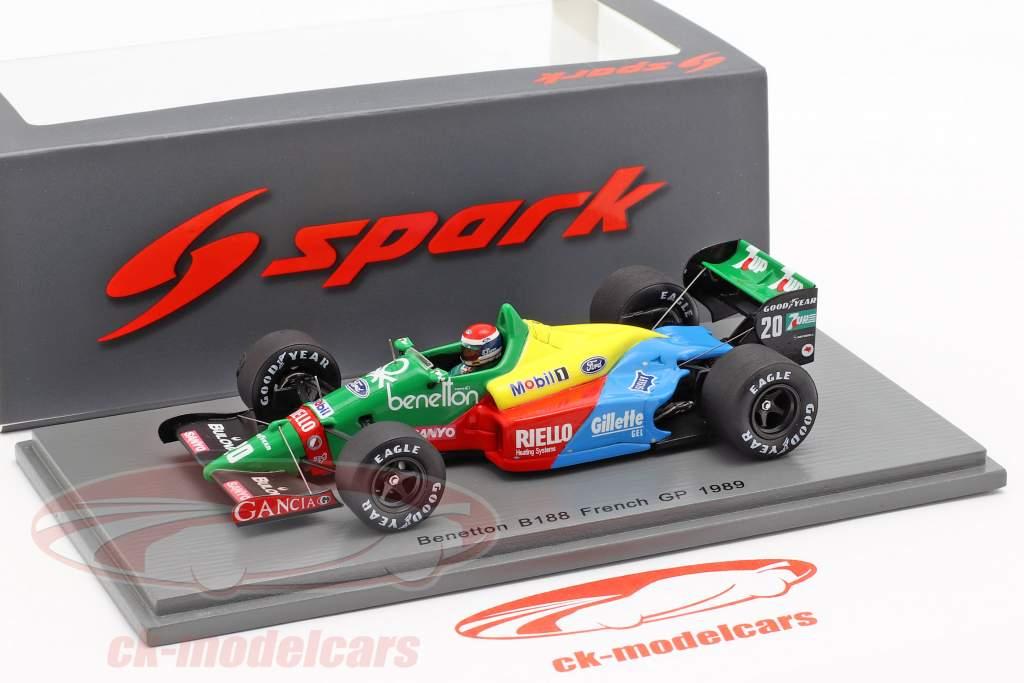 Emanuele Pirro Benetton B188 #20 fransk GP formel 1 1989 1:43 Spark