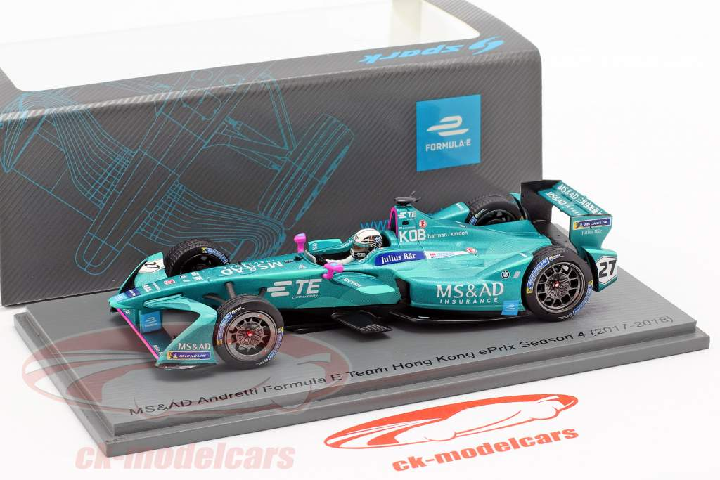 Kamui Kobayashi Andretti ATEC-03 #27 HongKong ePrix formula E 2017/18 1:43 Spark