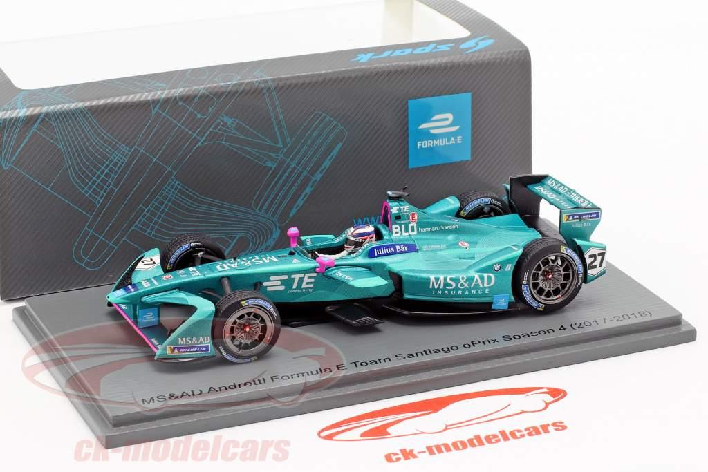 Tom Blomqvist Andretti ATEC-03 #27 Santiago ePrix formule E 2017/18 1:43 Spark