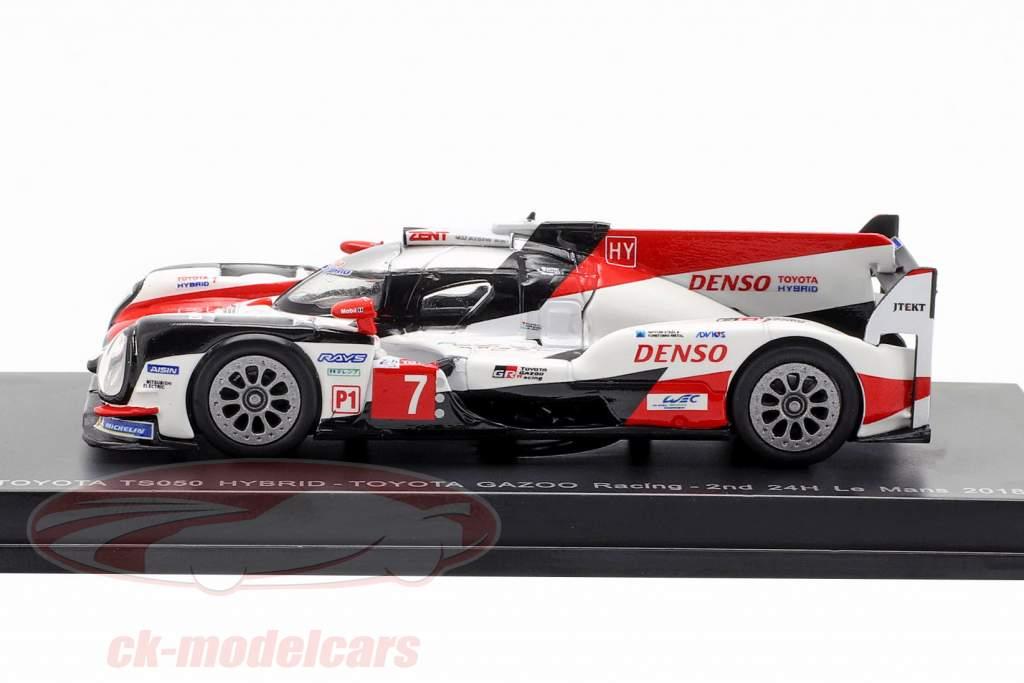 Toyota TS050 Hybrid #7 2nd 24h LeMans 2018 Conway, Kobayashi, Lopez 1:64 Spark