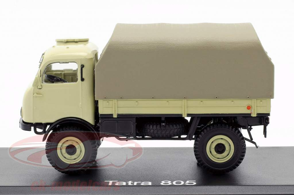Tatra 805 platform truck met dekkleed beige 1:43 PremiumClassiXXs