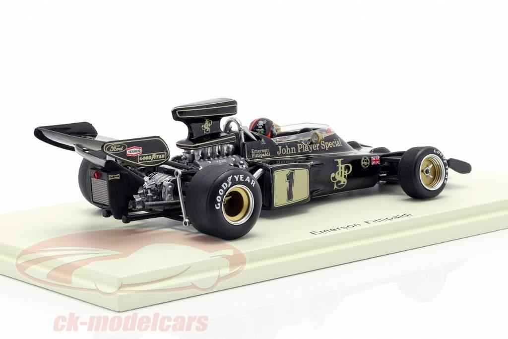 Emerson Fittipaldi Lotus 72E #1 gagnant espagnol GP formule 1 1973 1:43 Spark