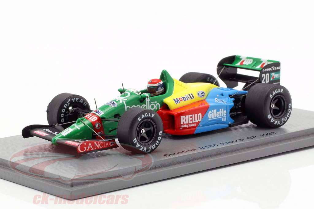 Emanuele Pirro Benetton B188 #20 Frankreich GP Formel 1 1989 1:43 Spark