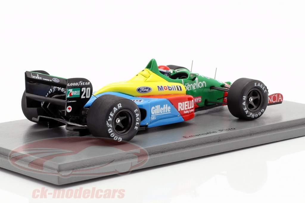 Emanuele Pirro Benetton B188 #20 francês GP fórmula 1 1989 1:43 Spark
