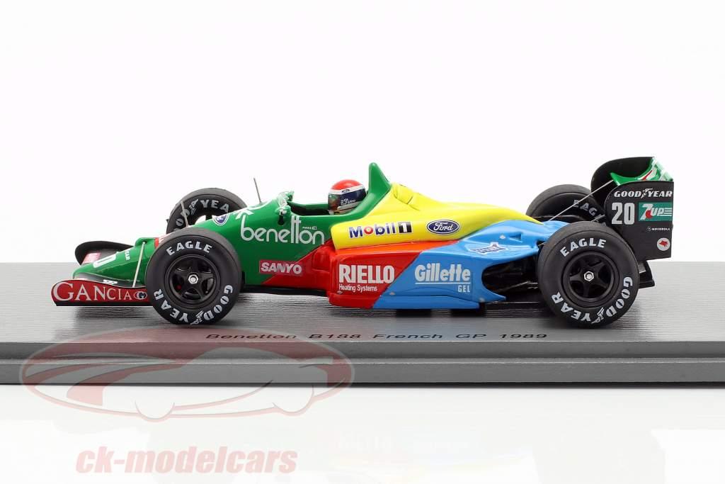 Emanuele Pirro Benetton B188 #20 French GP formula 1 1989 1:43 Spark