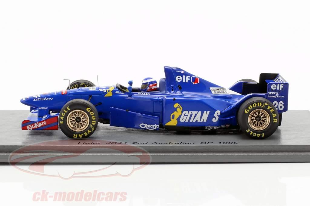 Olivier Panis Ligier JS41 #26 segundo australiano GP fórmula 1 1995 1:43 Spark