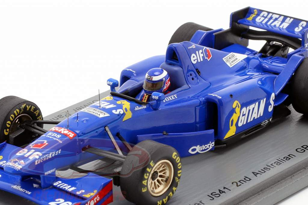 Olivier Panis Ligier JS41 #26 2 australien GP formule 1 1995 1:43 Spark