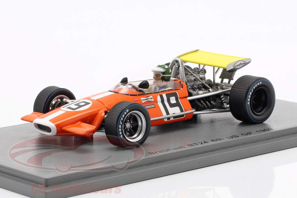 Silvio Moser Brabham BT24 #19 6th USA GP formel 1 1969 1:43 Spark