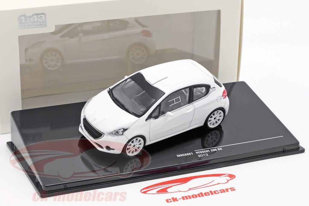 Peugeot 208 R2 Plain Body Version year 2013 white 1:43 Ixo