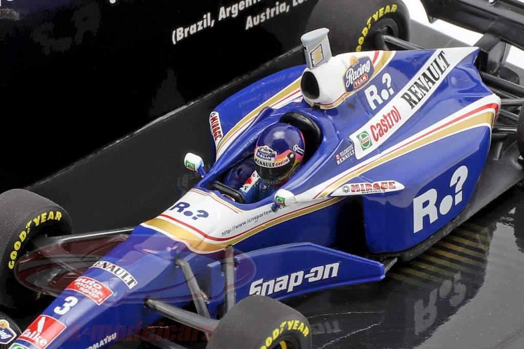 Jacques Villeneuve Williams FW19 #3 campeón del mundo fórmula 1 1997 1:43 Minichamps