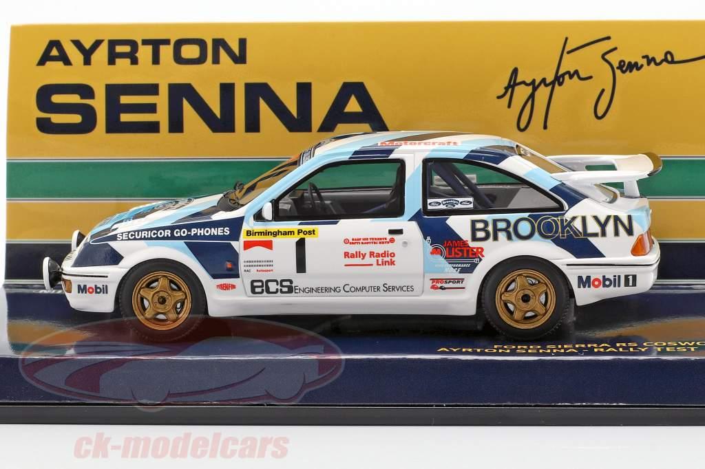 Ford Sierra RS Cosworth #1 Rally Test Car 1986 Senna 1:43 Minichamps