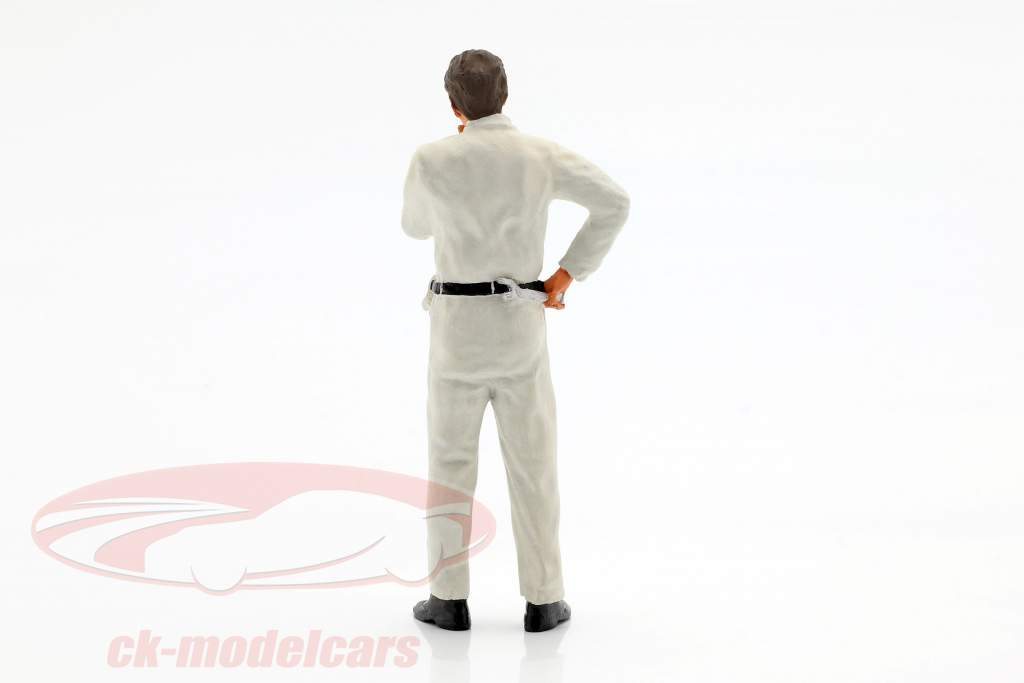 mécanicien avec blanc salopette pensif figure 1:18 FigurenManufaktur