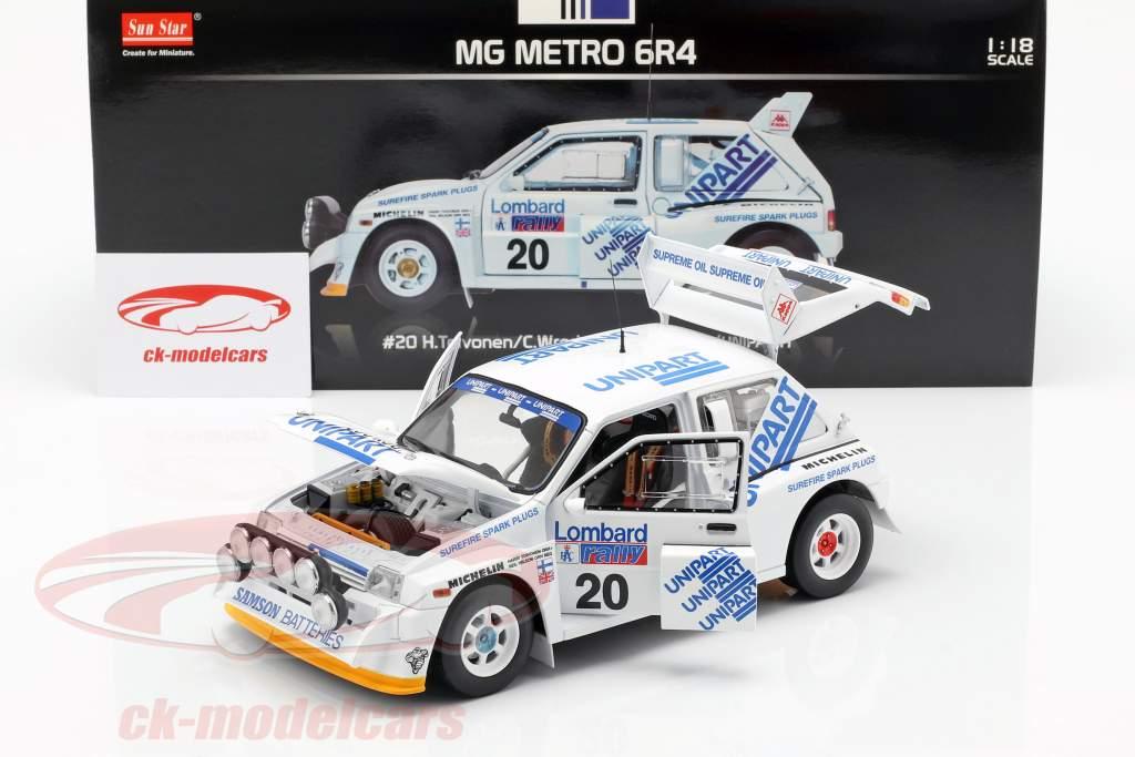 MG Metro 6R4 #20 Lombard RAC Rallye 1986 Toivonen, Wilson 1:18 SunStar