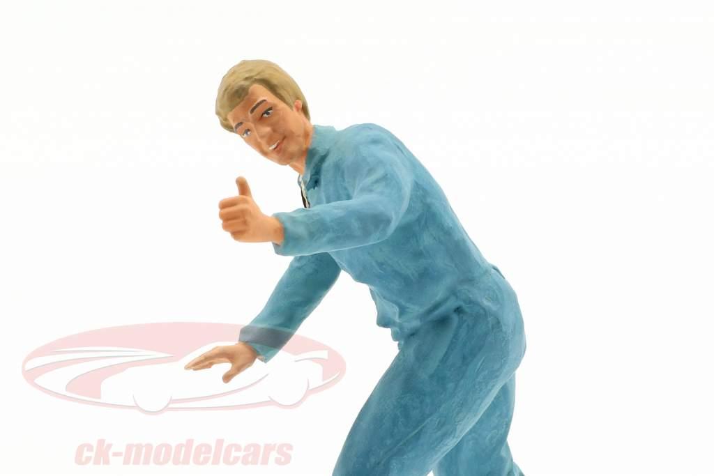 monteur met blauw overalls duim zeer figuur 1:18 FigurenManufaktur
