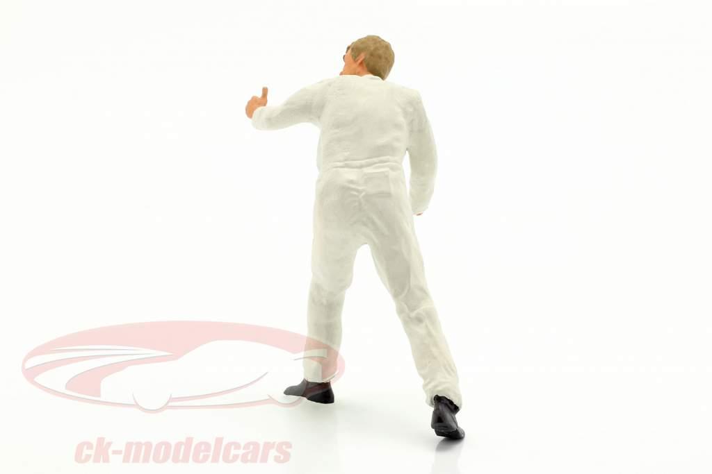 mécanicien avec blanc salopette pouce très figure 1:18 FigurenManufaktur