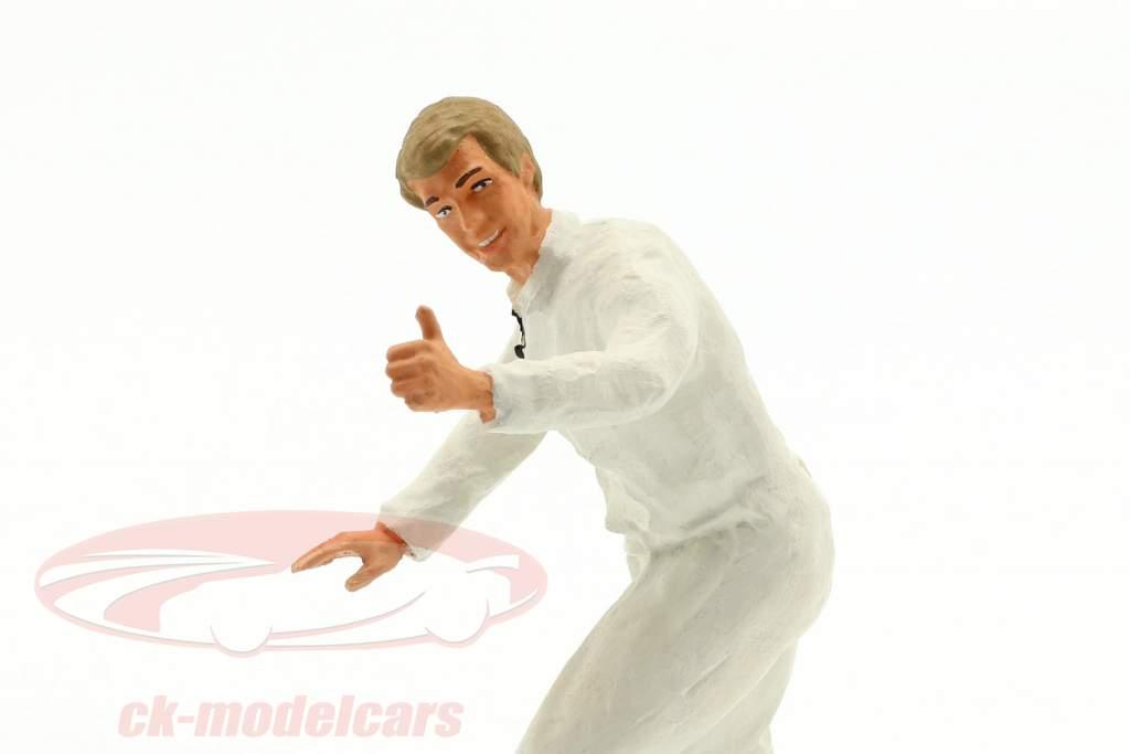 monteur met wit overalls duim zeer figuur 1:18 FigurenManufaktur