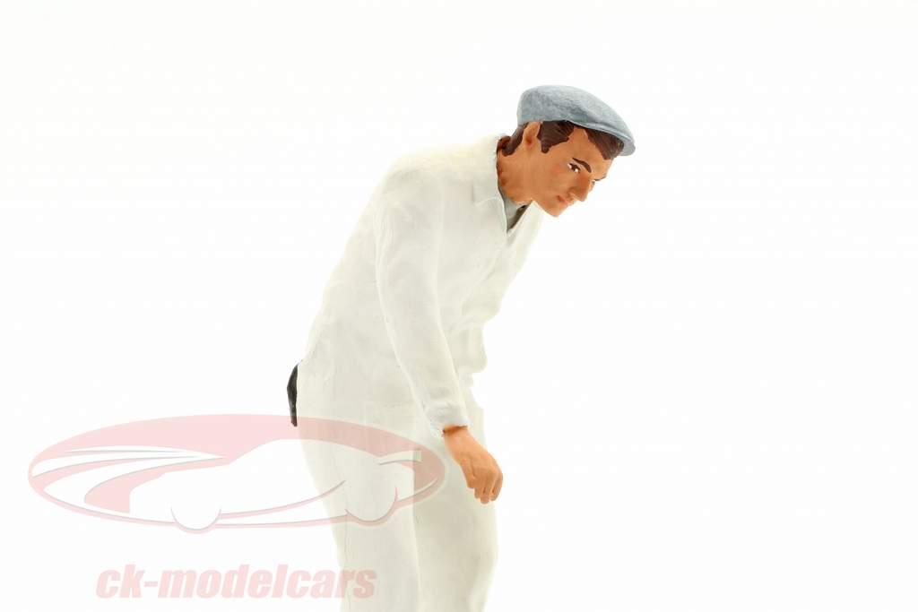 Mecánico con blanco Mono Figura 1:18 FigurenManufaktur