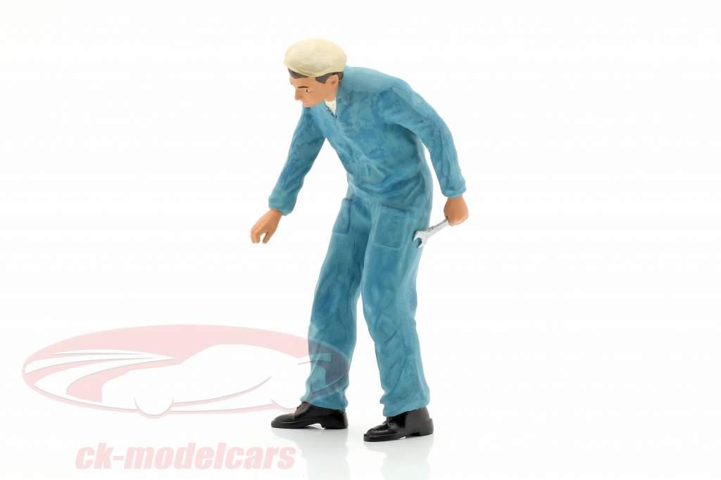 Mecânico com azul Macacão  Figura 1:18 FigurenManufaktur
