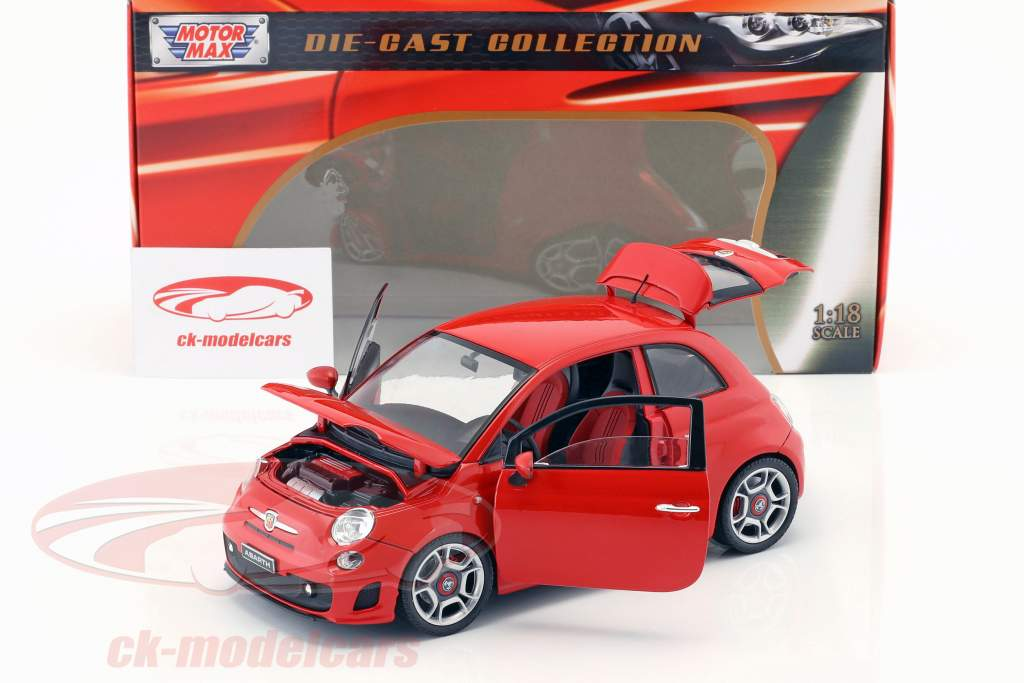 Fiat Abarth 500 Year 2008 red 1:18 MotorMax