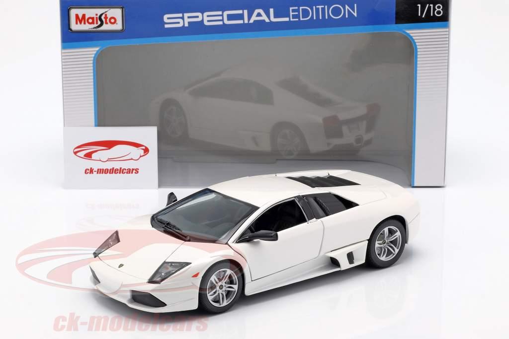 Lamborghini Murcielago LP640 Opførselsår 2007 hvid 1:18 Maisto