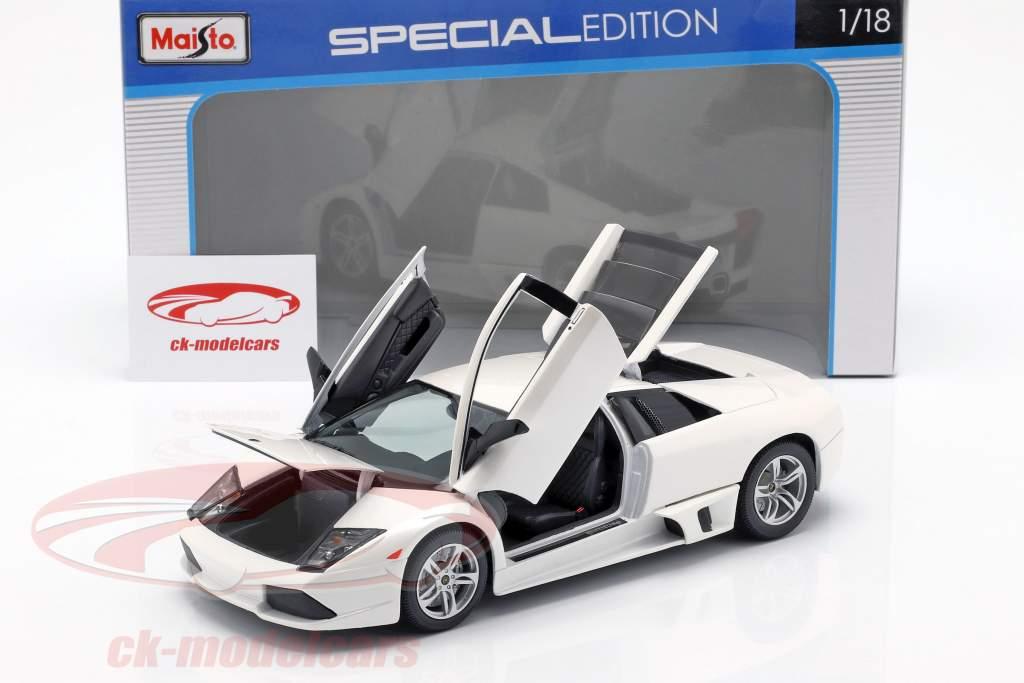 Lamborghini Murcielago LP640 année de construction 2007 blanc 1:18 Maisto