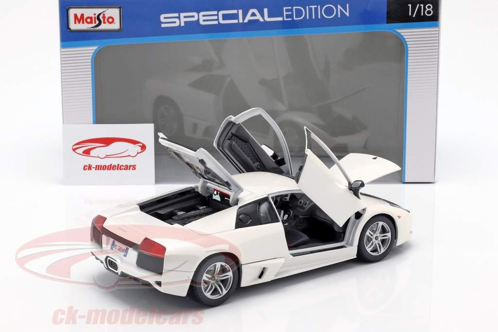 Lamborghini Murcielago LP640 año de construcción 2007 blanco 1:18 Maisto
