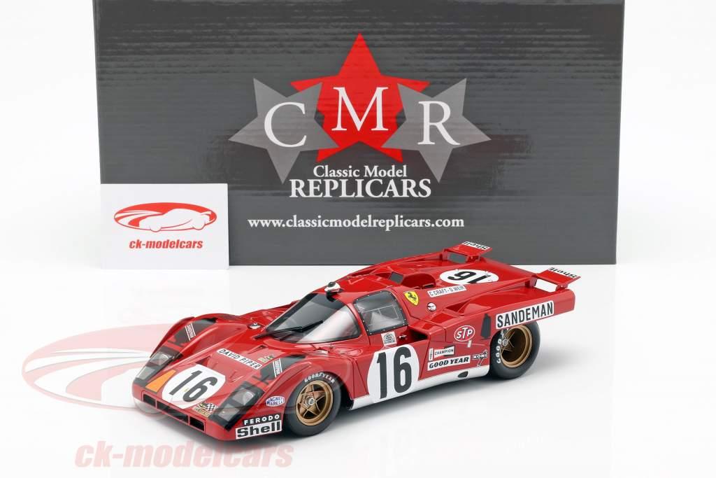 Ferrari 512 M #16 4e Plaats 24h LeMans 1971 Craft, Weir 1:18 CMR