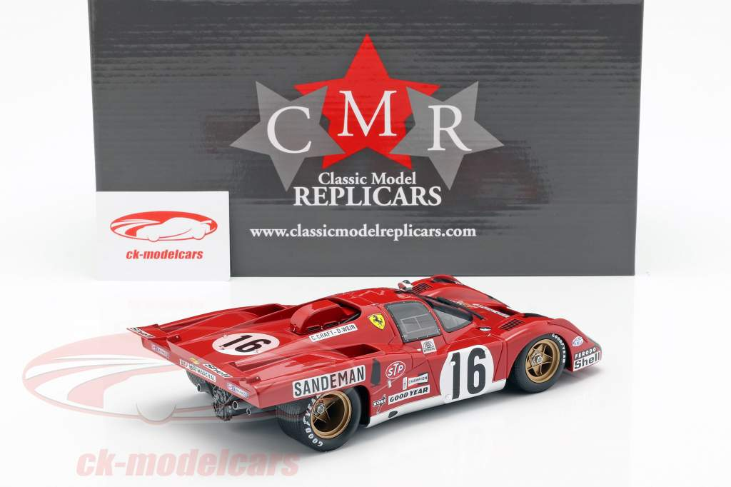 Ferrari 512 M #16 4 ° Posto 24h LeMans 1971 Craft, Weir 1:18 CMR
