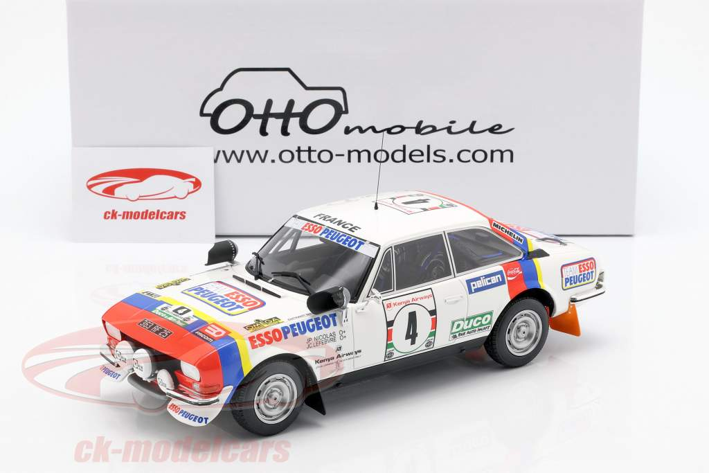 Peugeot 504 Coupe V6 #4 winnaar Safari Rallye 1978 Nicolas, Lefebvre 1:18 OttOmobile