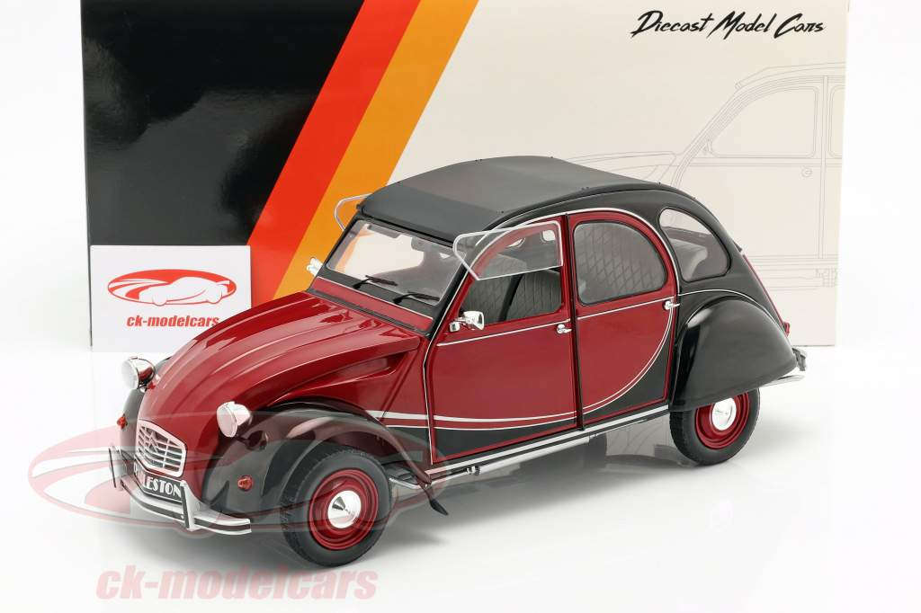 Citroen 2CV Charleston Opførselsår 1978 rød / sort 1:12 Z-Models