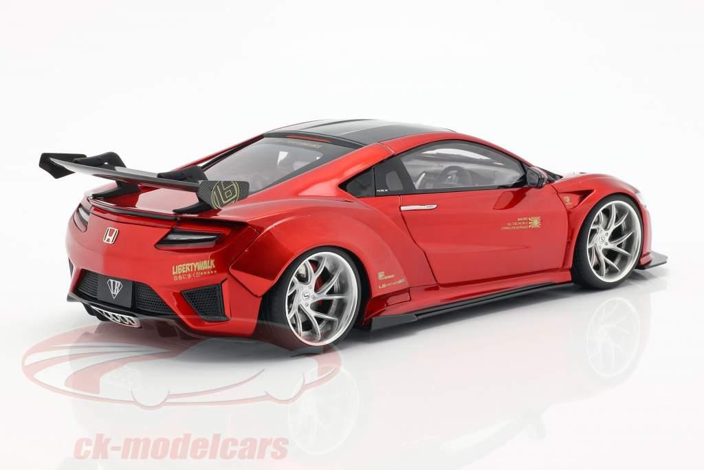 Honda NSX LB-Works Opførselsår 2016 slik rød 1:18 GT-Spirit