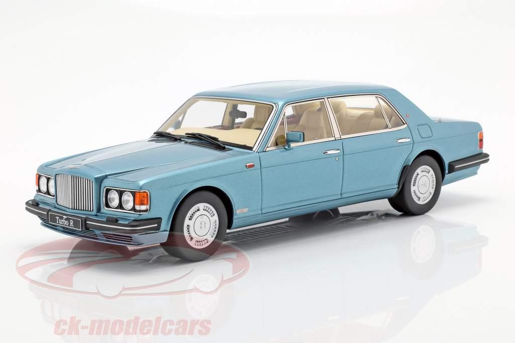 Bentley Turbo-L LWB anno di costruzione 1989 azzurro metallico 1:18 GT-Spirit
