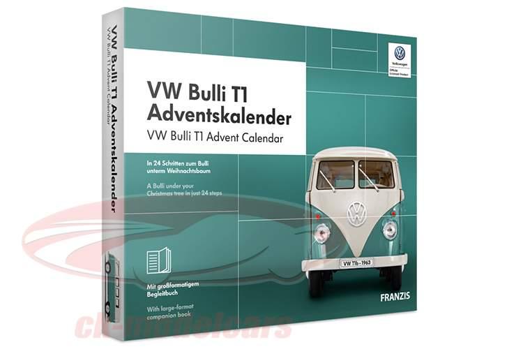 VW Bulli T1 Advent Calendar 2019: Volkswagen VW Bulli T1 1:43 Franzis