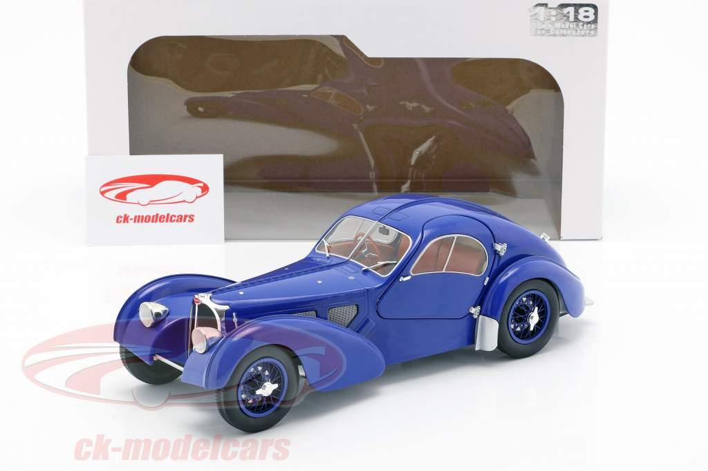 Bugatti Type 57 SC Atlantic año de construcción 1938 azul oscuro 1:18 Solido