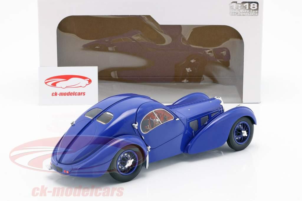 Bugatti Type 57 SC Atlantic anno di costruzione 1938 blu scuro 1:18 Solido