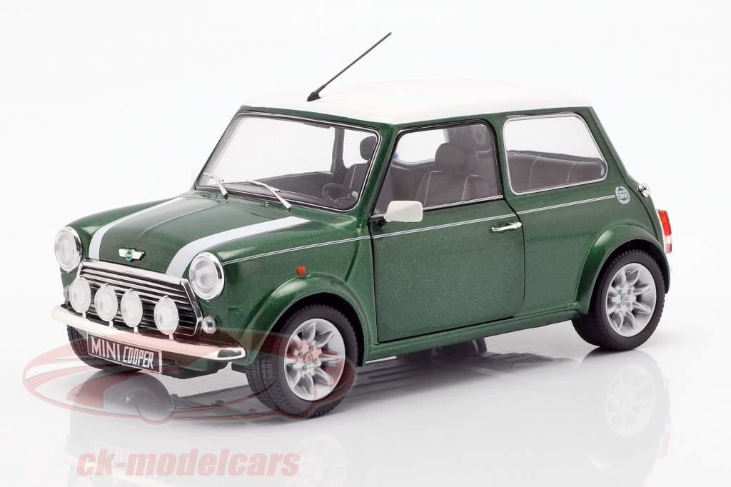 Mini Cooper 1.3i Sport Pack Baujahr 1997 grün / weiß 1:18 Solido