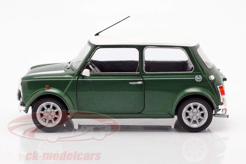 Mini Cooper 1.3i Sport Pack année de construction 1997 vert / blanc 1:18 Solido