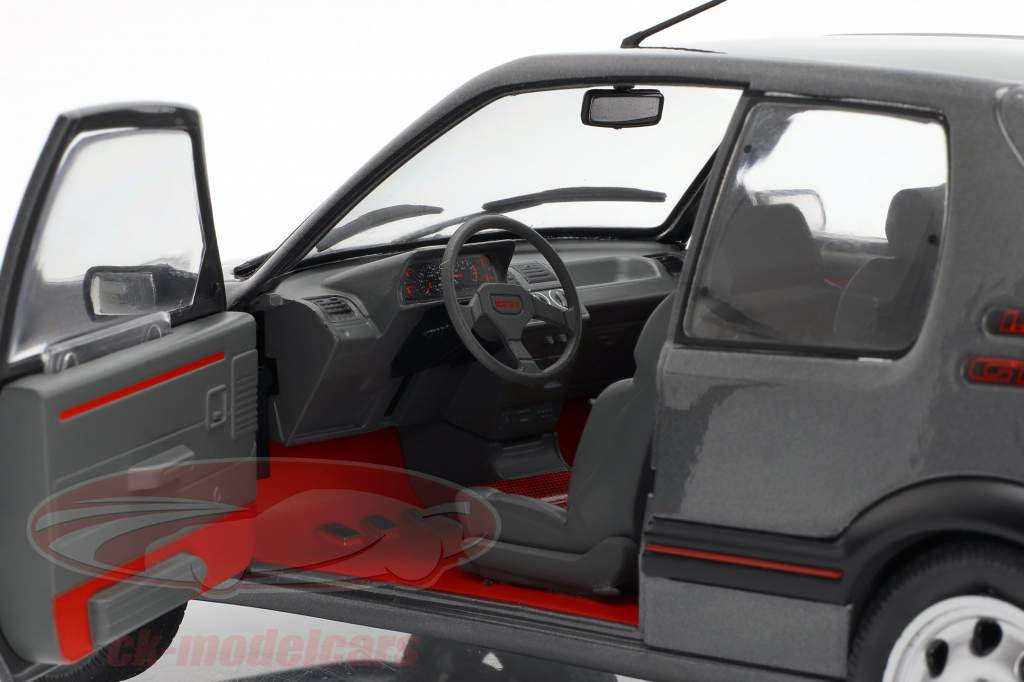 Peugeot 205 GTI Bouwjaar 1988 grijs metalen 1:18 Solido