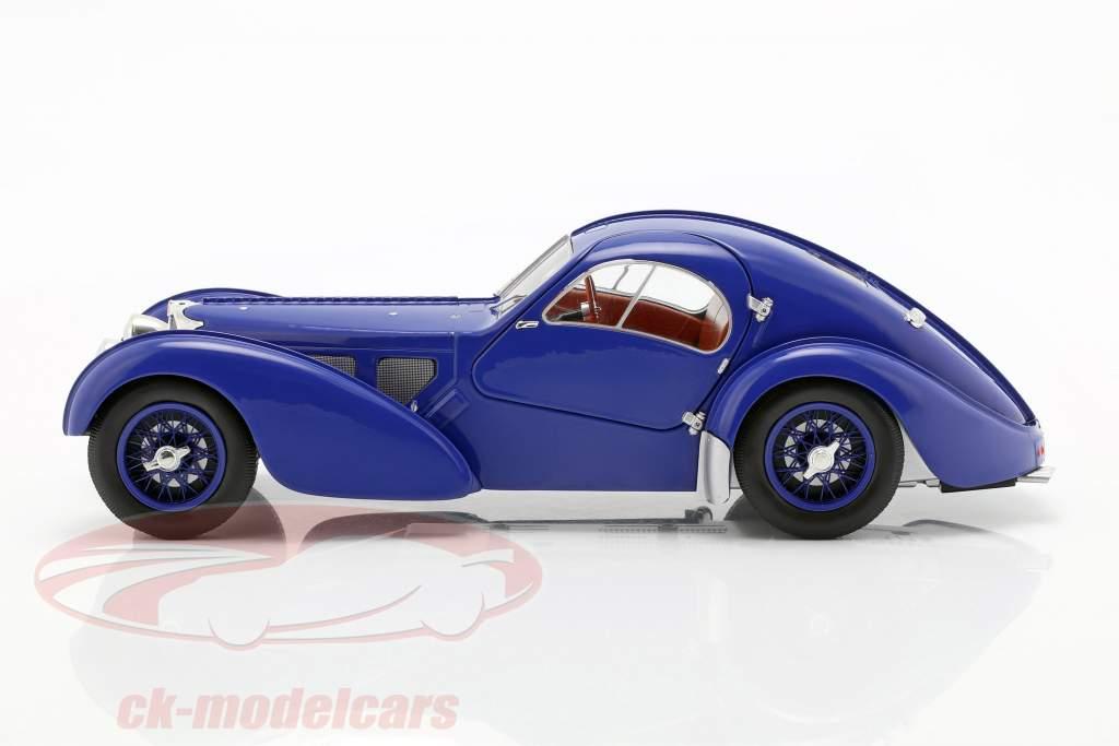 Bugatti Type 57 SC Atlantic ano de construção 1938 azul escuro 1:18 Solido