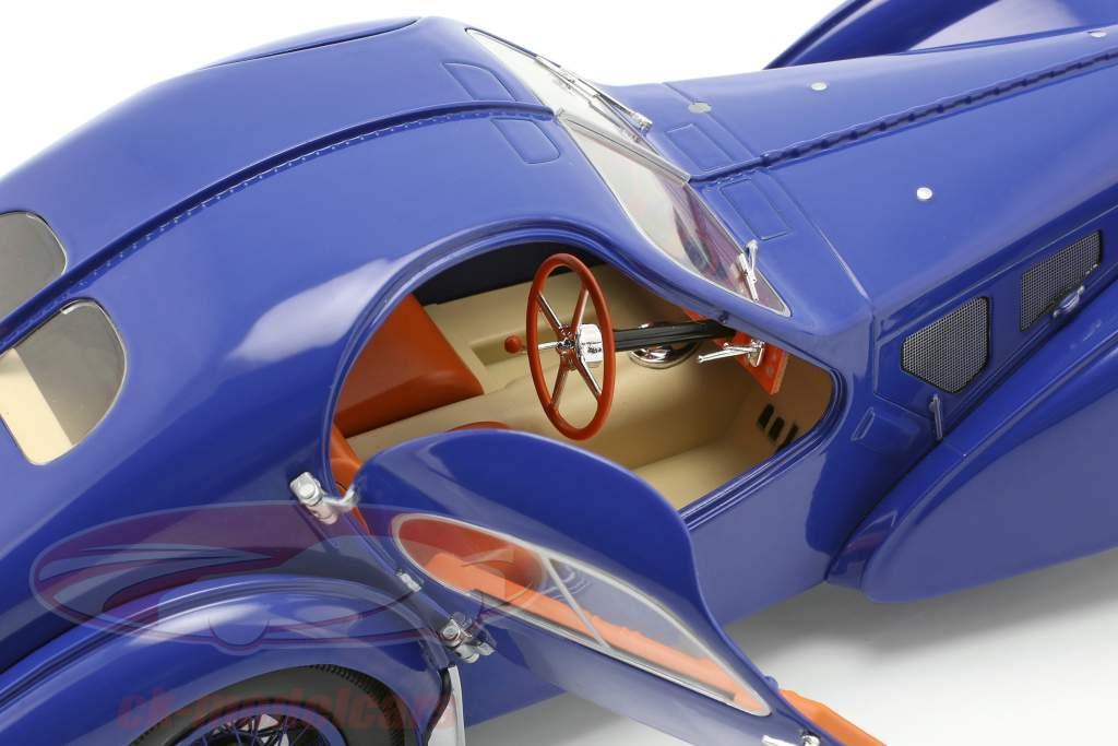 Bugatti Type 57 SC Atlantic Opførselsår 1938 mørkeblå 1:18 Solido