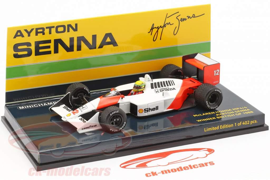 Ayrton Senna McLaren MP4/4 #12 britannique GP champion du monde F1 1988 1:43 Minichamps