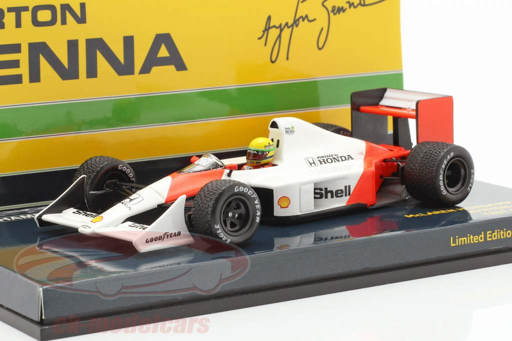 Ayrton Senna McLaren MP4/4B Test Car World Champion formula 1 1988 1:43 Minichamps